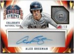 Alex Bregman 2015 Panini Stars and Stripes Acetate Auto Button 2/18