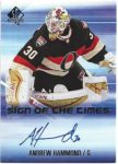 Andrew Hammond 2015-16 SP Authentic Sign Of The Times Auto