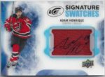 Adam Henrique 2016-17 Upper Deck Ice Signature Swatches Auto Jersey