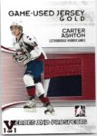 Carter Ashton 2009-10 In The Game Gold Patch 1/1