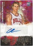 Cameron Bairstow 2014-15 Panini Court Kings Remarkable Rookies Auto