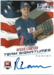 Reggie Lawson 2015 Panini USA Baseball Team Signatures Auto 53/499